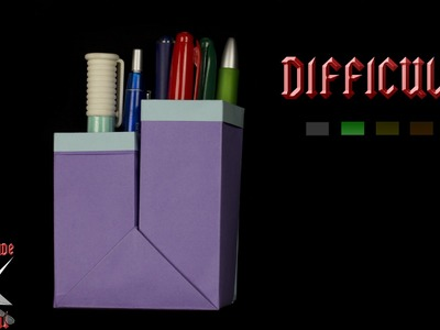 [ORIGAMI TUTORIAL] Pencil Pot (CUSTOMIZABLE Dimensions) || Boxes.Easy.Useful