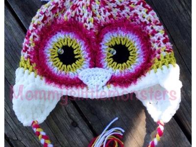 Owl Crochet Hats by Mommy's Little Monsters