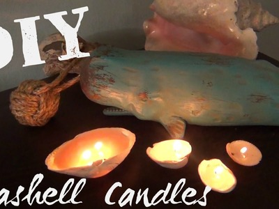 Seashell Candles ♥ DIY Décor