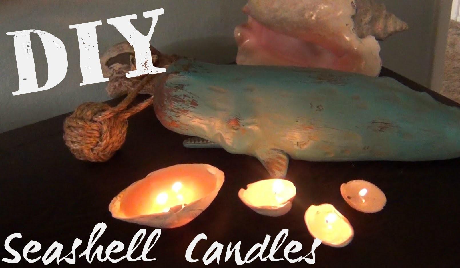 Seashell Candles ♥ DIY Décor