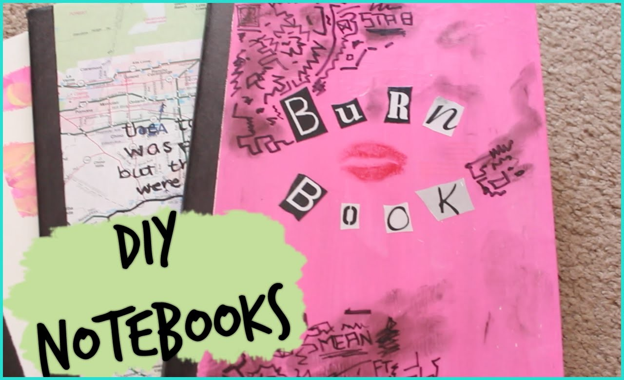 Three DIY Notebooks ft Burn Book & Paper Towns   Back to School 2014