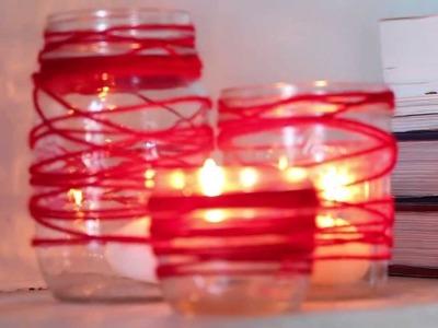 Yarn Candle DIY