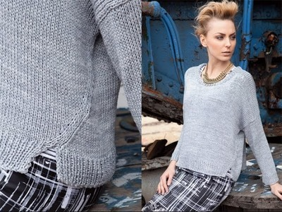 #24 Drop Shoulder Top, Vogue Knitting Early Fall 2011