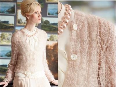 #6 Hip-Length Cardigan, Vogue Knitting Early Fall 2014