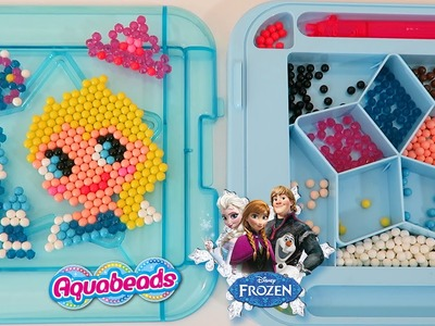 AquaBeads Disney Frozen Queen Elsa Sparkle Case Playset Part 1 | Make Your Own Frozen Shapes!