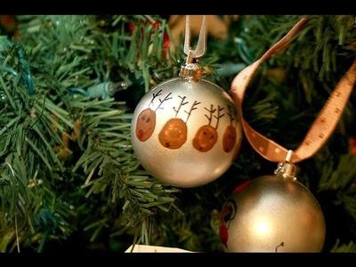 Crafting w. the kids ep.5 (Thumbprint Reindeer Ornaments tutorial)