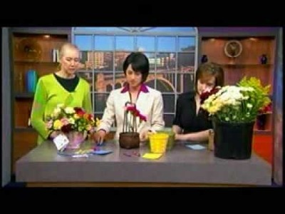 Create a flower basket for mom on Mother's Day