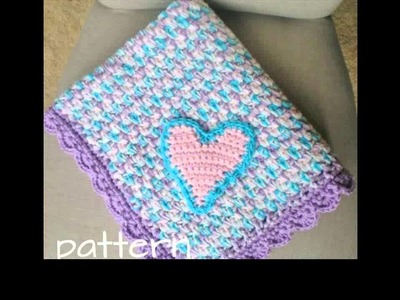 Crochet baby blanket with bernat yarn