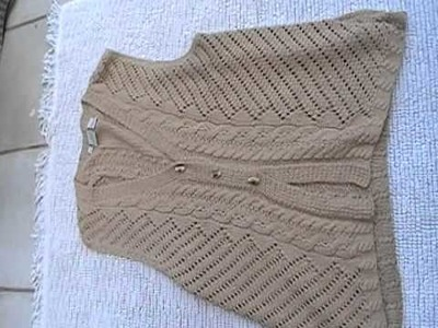 Crochet sweater beige vest
