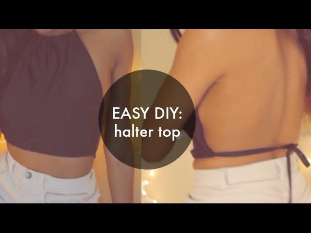 DIY American Apparel Inspired Halter Crop Top (Sewing) [EASY]