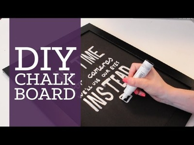 DIY chalkboard room decor | CharliMarieTV