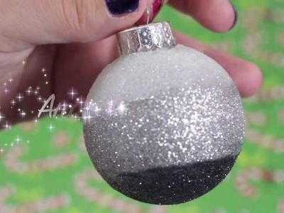 DIY Glitter Christmas Tree Ornaments Pt 2