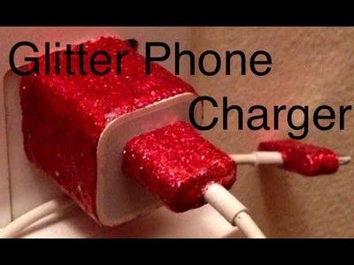 DIY: Glitter Phone Charger ♡ Theeasydiy #Crafty