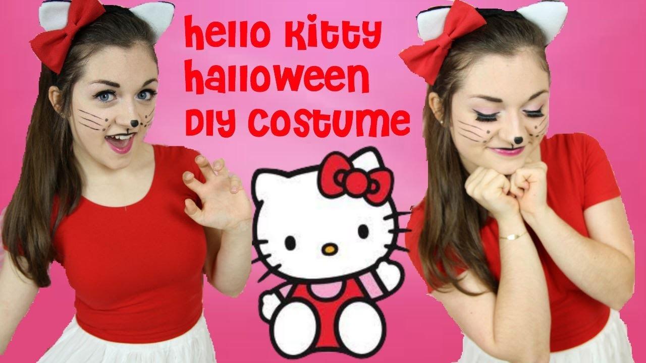 DIY Hello Kitty Halloween Costume, Makeup & Hair!
