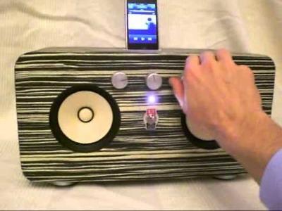 [DIY] retro style iPhone speaker dock makassar ebony wood