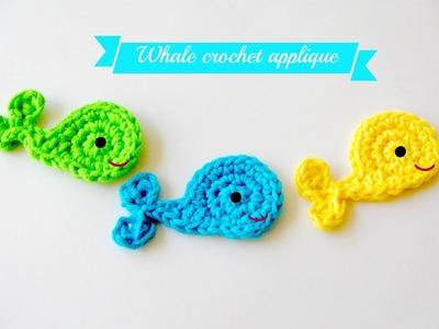 Easy crochet whale applique tutorial free pattern