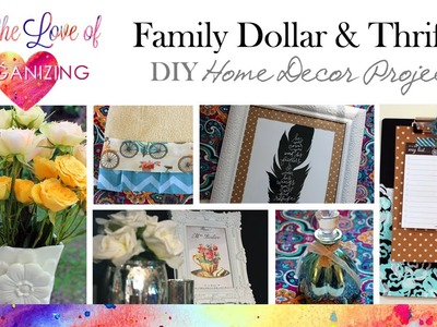 Family Dollar and Thrifted: DIY Home Decor & Organizing