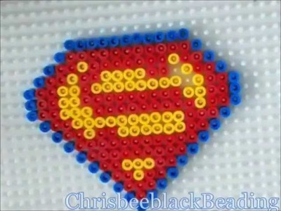 Hama Beads: Superman Logo
