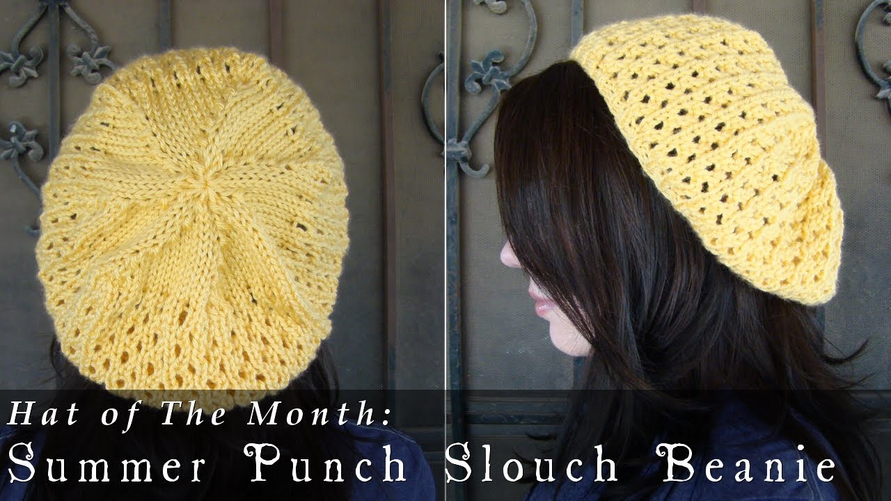 Hat of The Month  |  June 2013  |  Summer Punch Slouch Beanie