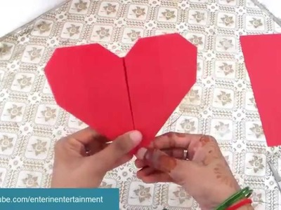 Heart Origami for Valentine Day - How to Papercraft
