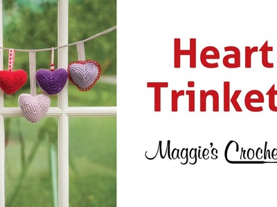 Heart Trinkets Free Crochet Pattern - Right Handed