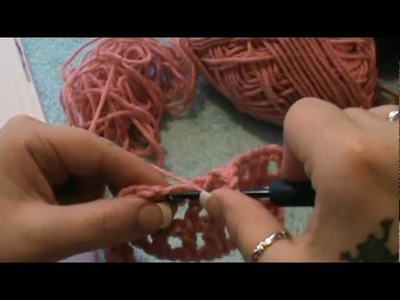 "How to Crochet a ""Filet Heart Square""-(Video 1 of 4)--Valentines Day"