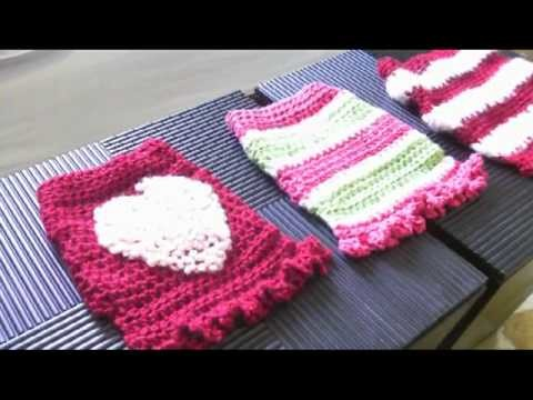 How to crochet dog sweater - Bijou's Candy Stripe Coat View of the finished Coat #1