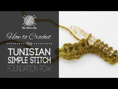 How to Crochet the Tunisian Simple Stitch Foundation Row (Left Handed)