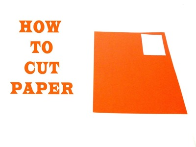 How to cut 3D Origami paper