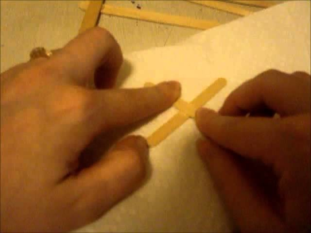 How to make a airplane out of craft sticks