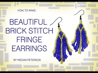 How To Make a Brick Stitch Earrings