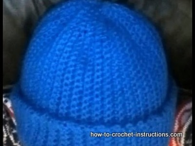 How to make a crochet ribbed hat