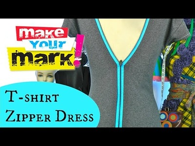How to make a T-shirt zipper dress:  Fashion DIY
