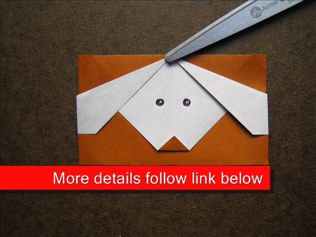 How to Make an Origami Puppy Pop Up Card
