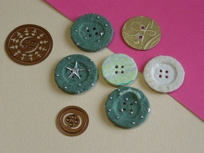 How to make Buttons from Paper or Card