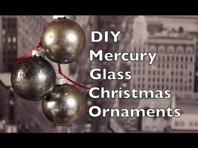 How To Make Christmas Tree Ornaments | DIY Mercury Glass Holiday Decoration Tutorial