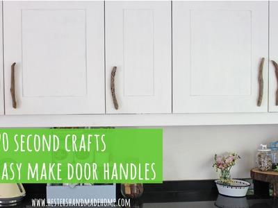 How to make easy door handles, 20 seconds craft