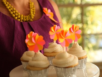 How to Make Flower Cupcake Toppers and Party Badges || KIN DIY