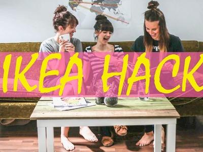 Ikea Hack Tutorial. Lack Coffee Table DIY using reclaimed wood