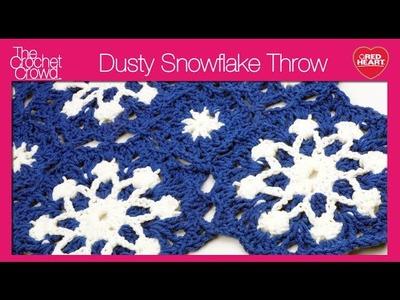 Left: Crochet Dusty Snowflake