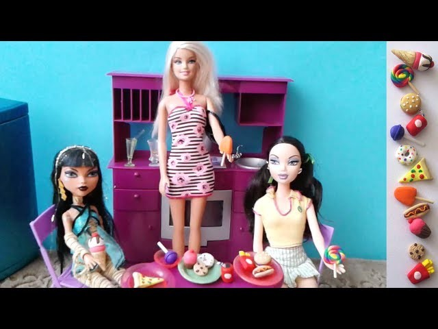 Make Doll Party Food Stuff  - 10 crafts in 1 video - Doll Crafts