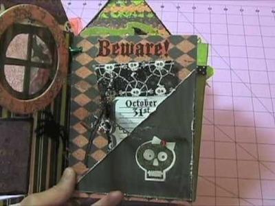 Mini Halloween Scrapbook Haunted House