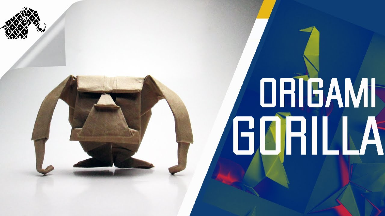 Origami - How To Make An Origami Gorilla