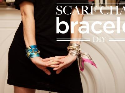 Scarf Chain Wrap Bracelet DIY