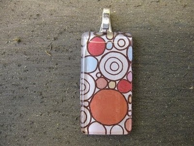 Scrapbooking Paper Pendant Craft Tutorial