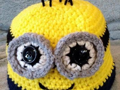 Small Minion Eye Tutorial   Crochet