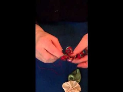 Stitching Ribbon Flowers. .How To