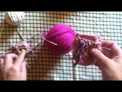Tutorial Handarbeit* Babyhandschuhe Stricken*Knitting*