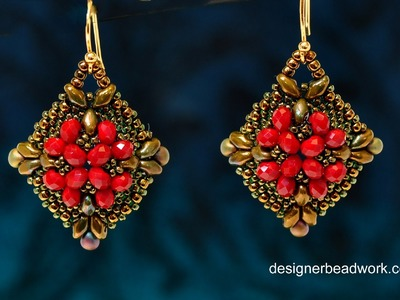 "Video Tutorial - Beaded Earrings ""Belleza"""