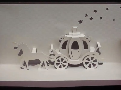 Walt Disney Cinderella Carriage Card Tutorial, Origamic Architecture